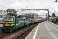Zug 2, TschS7-099, TschS7, Russland, Rossija, Moskau, Jaroslawler Bahnhof, 1524 mm, 27.07.2013