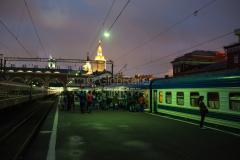 Zug 6, Russland, Moskau, Kasaner Bahnhof, 27.07.2013