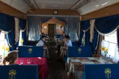 Zug 6, Speisewagen, Kasachstan, 29.07.2013