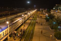 Zug 6, Kasalinsk, Kasachstan, Bahnhof, 29.07.2013