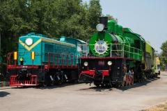 Usbekistan, Taschkent, TE1, Eisenbahnmuseum, E-705-74, 31.07.2013