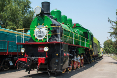 Usbekistan, Taschkent, Eisenbahnmuseum, E-705-74, 31.07.2013