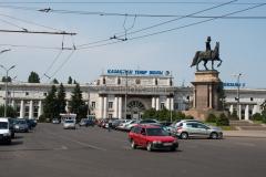 Kasachstan, Empfangsgebäude, Bahnhof 2, 02.08.2013