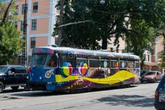 Tw 1021, Straßenbahn, Kasachstan, Almaty, 03.08.2013