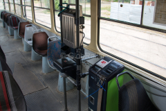 Tw 1046, Straßenbahn, Kasachstan, Fahrkartenautomat, Almaty, 03.08.2013