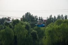 Seilbahn, Park, Hohhot, GÄRTEN & PARKS, China, 08.08.2013