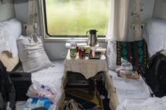 Zug 7360, China, 4-Bett Schlafwagen, 11.08.2013