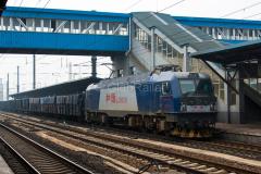 Siping, HXD3B0438, GÜTERZÜGE, E-Wagenzug, China, Bahnhof, 11.08.2013