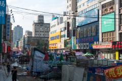 Stadtzentrum, Dandong, China, 12.08.2013