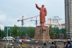 Mao, Denkmal, Dandong, DENKMÄLER, China, Bahnhof, 13.08.2013