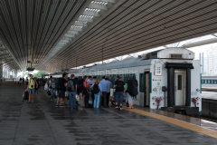 K 27, Dandong, China, Bahnsteig, Bahnhof, 13.08.2013