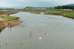 Nordkorea, Fluss, Chongju, 13.08.2013