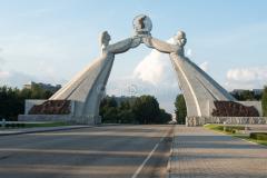 STRASSEN & WEGE & PLÄTZE, Pjöngjang, Nordkorea, Denkmal, DENKMÄLER, Autobahn, 14.08.2013