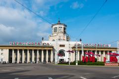 Pjöngjang, Nordkorea, Hauptbahnhof, 15.08.2013