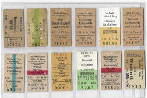 Reisen damals, oder was ein Billett kostete. 1972 lag der Preis für die Reise im Drittklasswagen von Wattwil nach Will und zurück beim Gegenwert eines Stundenlohnes einer sehr gut verdienenden Person.