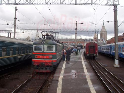 15.08.2004 - Zug 76 nach Tynda in Moskau Kasaner Bf