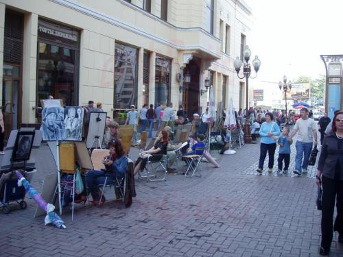 28.08.2004 - Straßenmahler auf dem Arbat in Moskau