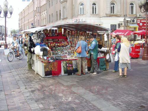 28.08.2004 - Souvenierverkäufer auf dem Arbat