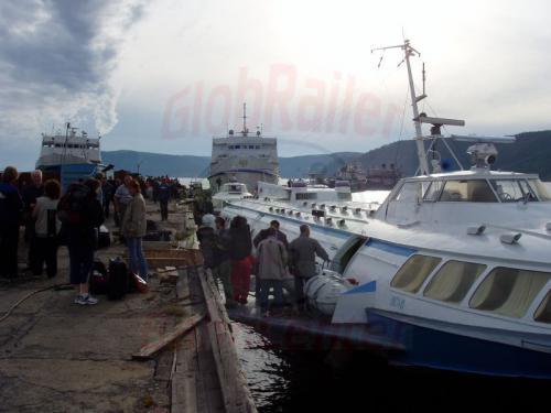 21.08.2004 - Umstieg von Kometa auf Raketa in Port Bajkal
