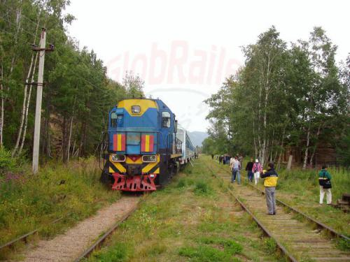 22.08.2004 - Zug 832 nach Sljudjanka in der Station Ulanowo
