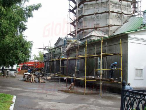 23.08.2004 - Russische Kirchenbaustelle