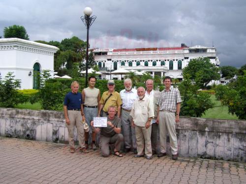 15.08.2007 - Gruppenbild im Hotel Shanker von Kathmandu