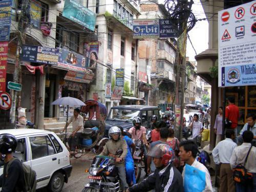 16.08.2007 - In den Strassen von Kathmandu-Thamel
