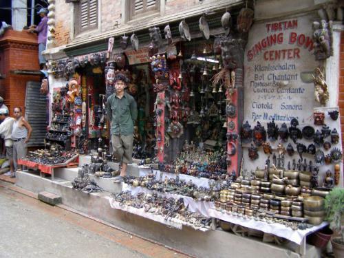 16.08.2007 - Shop in den Strassen von Kathmandu-Patan