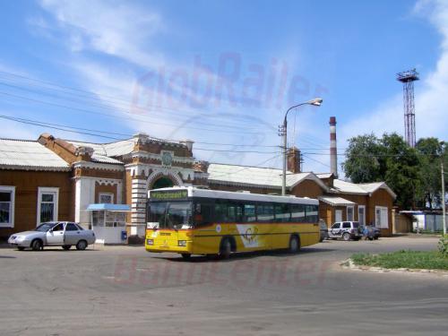 25.07.2007 - Saratov-Pokrowsk Bahnhof-Hochzeitsbus