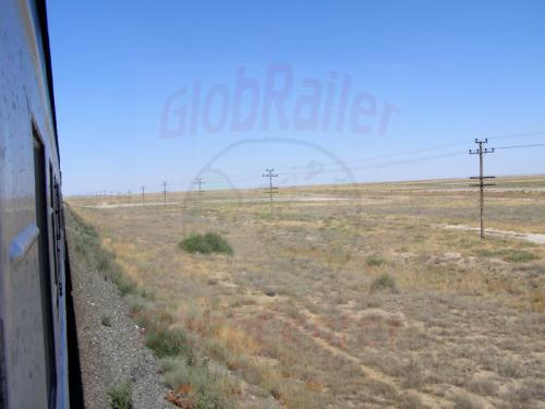 26.07.2007 - Mit Zug 332 durch die Kasachische Steppe