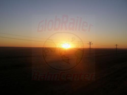 26.07.2007 - Sonnenuntergang in der Kasachischen Steppe