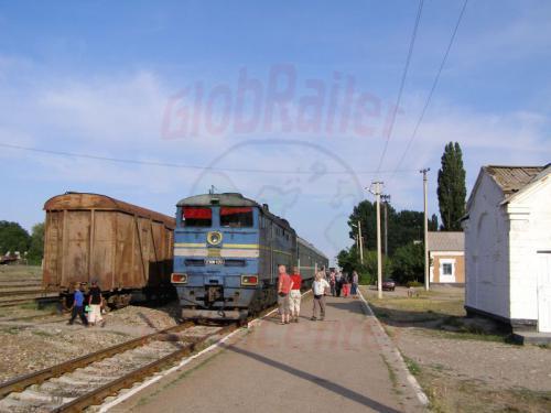 02.08.2007 - Tokmak-Bahnhof-Zug nach Rybatsche