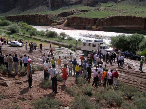 02.08.2007 - Erdrutsch zwischen Kotschkor und Sary-Bulak