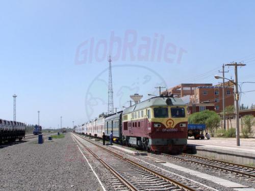 04.08.2007 - Kaschkar Bahnhof- Zug 885 nach Urumqui