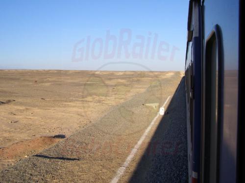 06.08.2007 - Mit Zug 296 durch die Wüste Taklamakan
