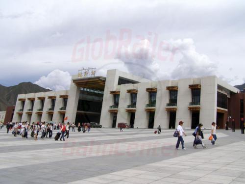 10.08.2007 - Lhasa-Bahnhof Empfangsgebäude