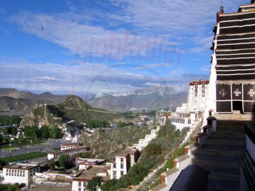 11.08.2007 - Lhasa-Aufstieg im Potala Palast