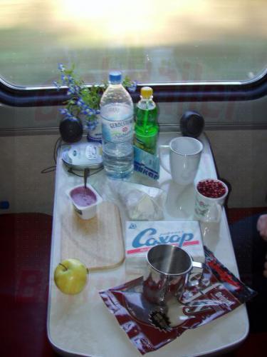 22.09.2003 - Tisch im Schlafwagen