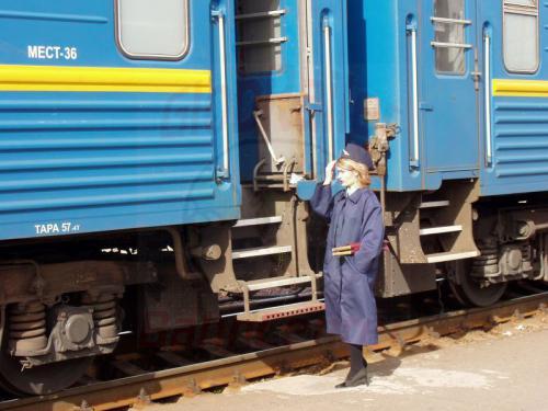 24.09.2003 - Marina bei der Zugabfertigung