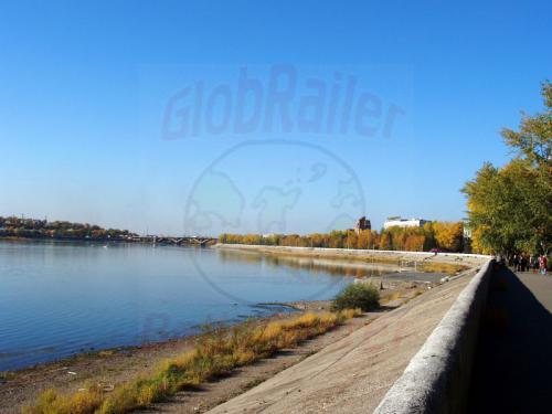 26.09.2003 - Ufer der Angara und Hotel Bajkal
