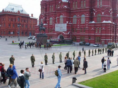 04.10.2003 - Straßensperren in Moskau