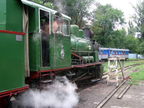 27.07.2008 - Rostov Kindereisenbahn Dampflok