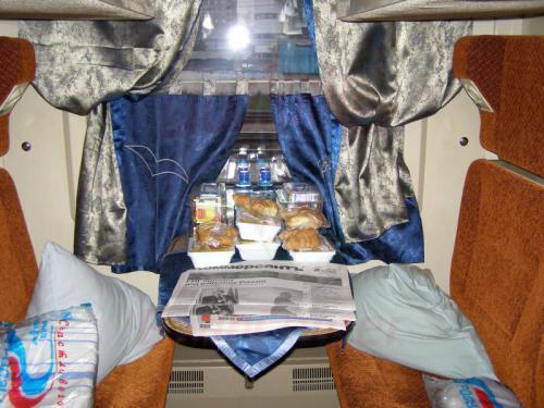 01.08.2008 - Nishnij-Nowgorod 4-Bett Abteil in einem Firmenzug