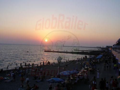 06.08.2006 - Sotschi - Sonnenuntergang am Schwarzen Meer