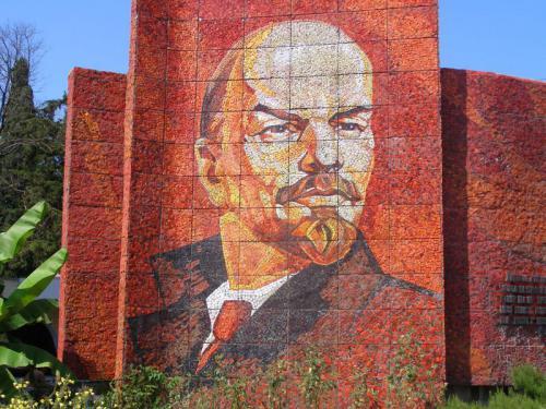 06.08.2006 - Sotschi - Lenin als Mosaik