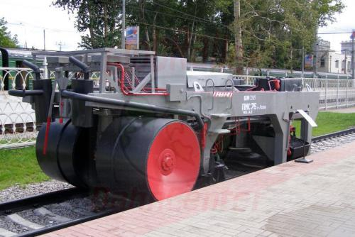 11.08.2006 - Moskau - Museum der Moskauer Eisenbahn-Ballastwagen BMS