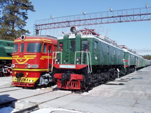17.04.2003 - Eisenbahnmuseum bei Nowosibirsk