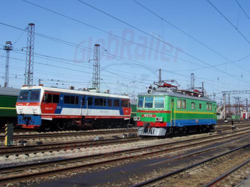 17.04.2003 - Auf dem Bahnhof von Nowosibirsk