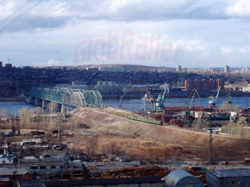 20.04.2003 - Eisenbahnbrücke über den Jenisej