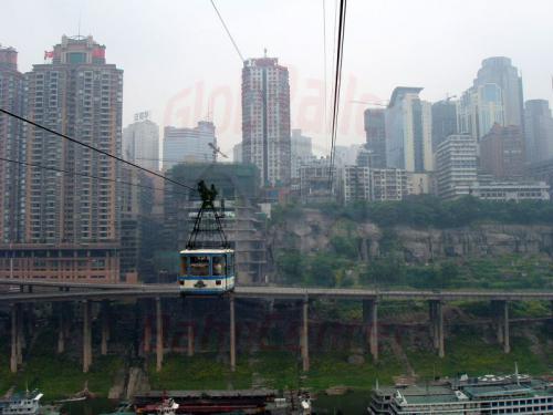 28.04.2003 - Shongqing-Seilbahn über den Jangtze